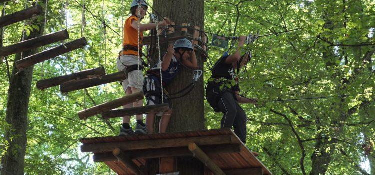 Abenteuer im Kletterpark