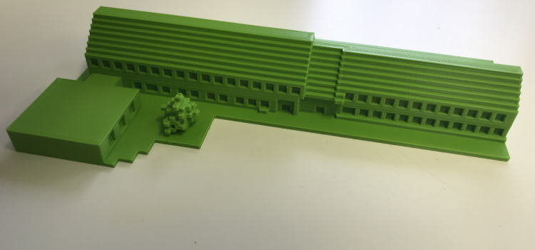 3D-Druck von Minecraft Gebäuden