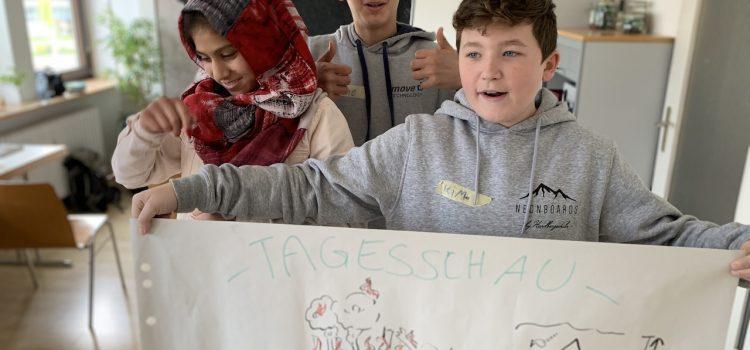 Schüler machen auf den Klimawandel aufmerksam